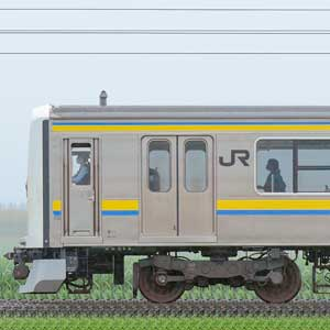 JR東日本 幕張車両センター 209系2000番台C433編成(線路設備モニタリング装置搭載編成・海側)
