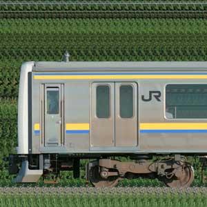 JR東日本 幕張車両センター 209系2000番台C433編成(線路設備モニタリング装置搭載編成)+2100番台C438編成(山側)