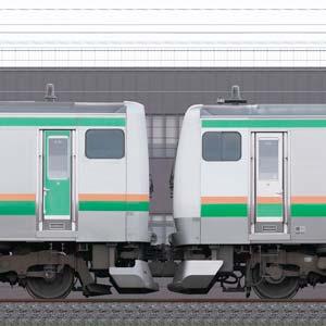 JR東日本 国府津車両センター E231系K-04編成+E233系E-55編成(線路設備モニタリング装置対応編成)(海側)