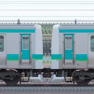 JR東日本 常磐快速線 E231系マト119編成(線路設備モニタリング装置対応編成)+マト127編成(山側)