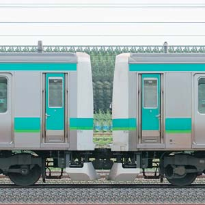 JR東日本 常磐快速線 E231系マト104編成(線路設備モニタリング装置搭載編成)+マト127編成(山側)