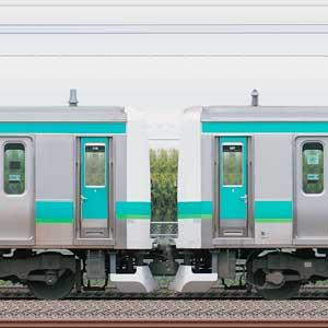 JR東日本 常磐快速線 E231系マト119編成(線路設備モニタリング装置対応編成)+マト127編成(海側)