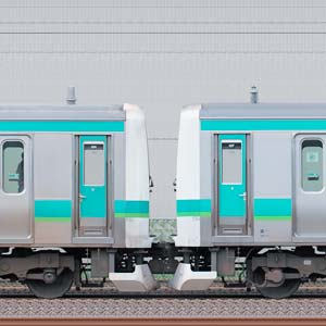 JR東日本 常磐快速線 E231系マト104編成(線路設備モニタリング装置搭載編成)+マト127編成(海側)