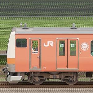 JR東日本 中央快速線 E233系T24編成(中央線開業130周年記念ラッピングトレイン・海側)