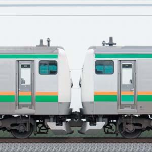 JR東日本 国府津車両センター E233系E-55編成(線路設備モニタリング装置対応編成)+E-02編成(山側)