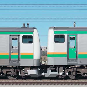 JR東日本 国府津車両センター E233系E-01編成+E231系S-34編成(海側)