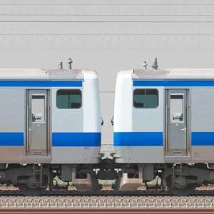 JR東日本 常磐線 E531系K411編成(線路設備モニタリング装置搭載編成)+K465編成(海側)