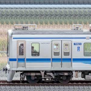 北総7800形7828編成(集電装置・補助電源装置交換前/山側)