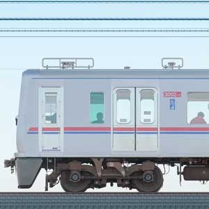 京成電鉄3000形(1次車)3002編成(架線検測装置搭載編成・山側)