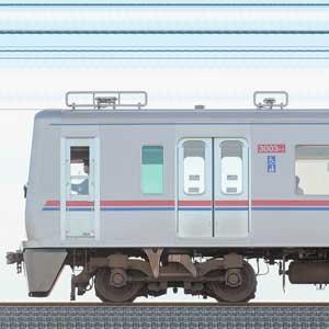 京成3000形(1次車)3003編成(SiC適用VVVFインバータ試験編成・山側)