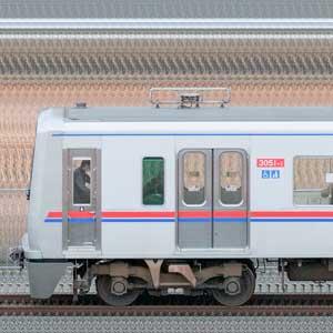 京成3000形(7次車/3050形)3051編成(デザイン変更後・山側)