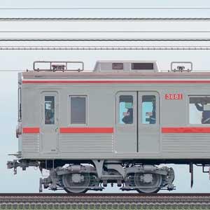 京成3600形3688編成(ファイヤーオレンジリバイバルカラー・山側)