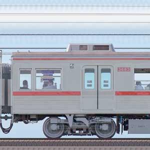 京成3600形モハ3683(ファイヤーオレンジリバイバルカラー)