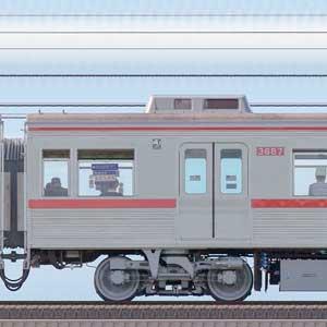 京成3600形モハ3687(ファイヤーオレンジリバイバルカラー)