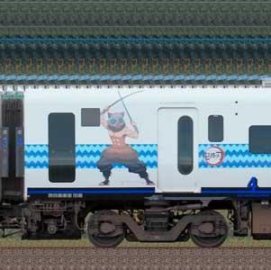 JR九州885系サハ885-10(「鬼滅の刃」ラッピング)