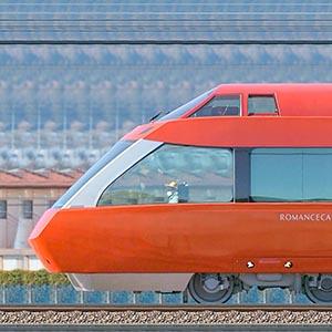 小田急70000形ロマンスカー「GSE」70051×7(海側)