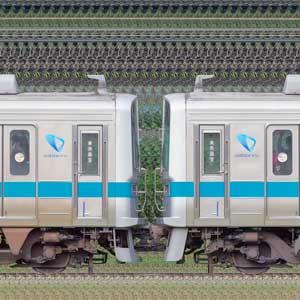小田急1000形1051×4+1062×4(海側)