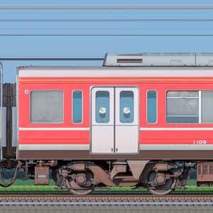 小田急1000形デハ1109(レーティッシュ鉄道色)