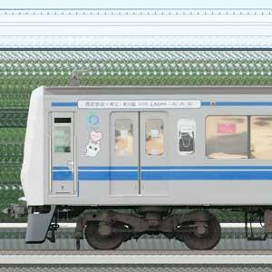 西武6000系6158編成「西武鉄道×秩父・本川越 with LAIMO&爽爽猫」ラッピング(1位側)