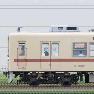 新京成8000形8512編成(茶色帯リバイバルカラー・海側)