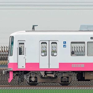 新京成8800形8816編成(機器更新・内装リニューアル車/山側)