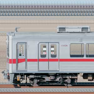 東武10030型(リニューアル車)11436編成(海側)