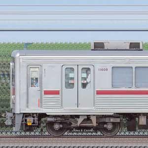 東武10000型11608編成(リニューアル車・海側)