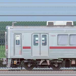東武10000型11609編成(リニューアル車・海側)
