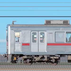 東武10000型11801編成(リニューアル車・海側)