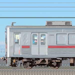 東武10000型11802編成(リニューアル車・海側)