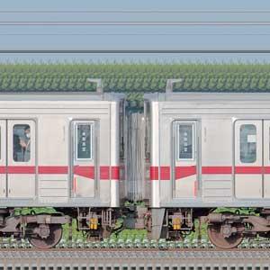 東武鉄道10030型11451編成+10080型11480編成(海側)