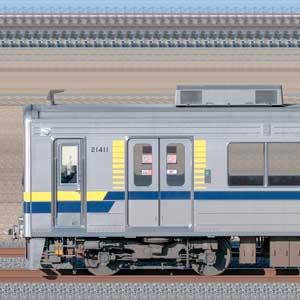 東武20400型21411編成(安全確認カメラ取付後・海側)