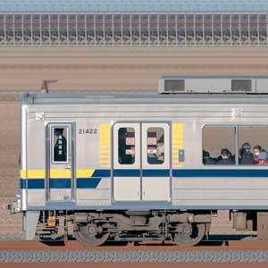 東武20400型21422編成(海側)