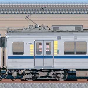 東武20400型モハ22411(安全確認カメラ取付後)