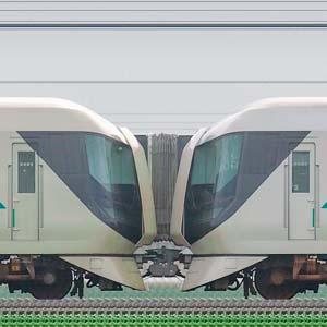 東武500系「リバティ」501編成(荷物置場設置後)+506編成(荷物置場設置前)(山側)