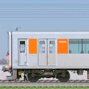 東武50000型51008編成(東上線・海側)