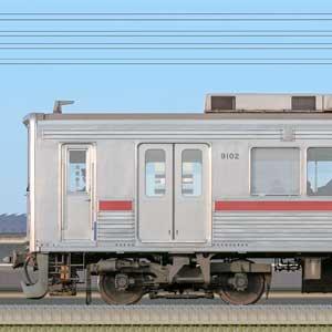 東武9000型9102編成(海側)