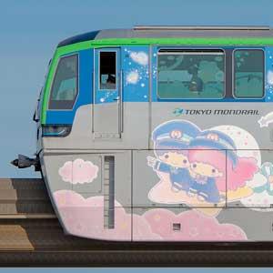 東京モノレール10000形10041編成「キキ&ララ モノレール」(山側)