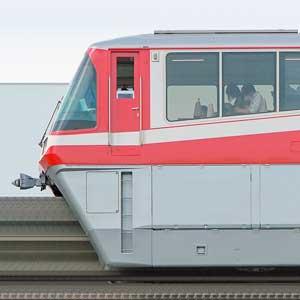 東京モノレール1000形1049編成「500形復刻塗装」(海側)