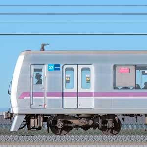 東京メトロ08系08-105編成(鷺沼検車区第55編成/海側)