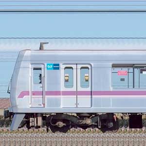 東京メトロ08系08-105編成(鷺沼検車区第55編成/山側)
