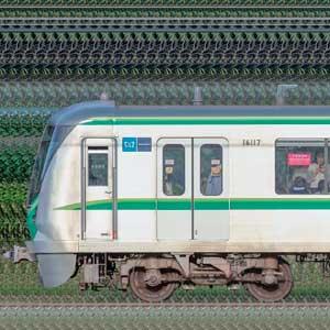 東京メトロ16000系16117編成(綾瀬検車区第57編成/海側)