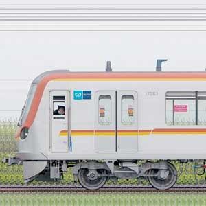 東京メトロ17000系17103編成(和光検車区第23編成/1側)