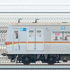 東京メトロ7000系7102編成(和光検車区第02編成/1側)