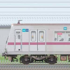 東京メトロ8000系8114編成(鷺沼検車区第14編成/海側)