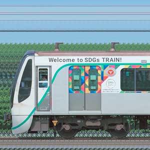 東急電鉄2020系2130編成「SDGsトレイン 美しい時代へ号」(海側)