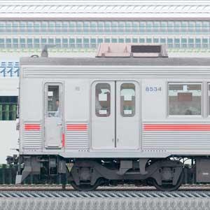 東急8500系8634編成(海側)