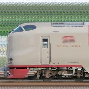 JR西日本285系I1編成+JR東海285系3000番台I4編成(海側)