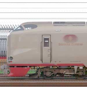 JR西日本285系「サンライズエクスプレス」I3+I1編成(海側)